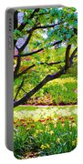 Tree In Spring Portable Battery Charger