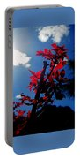 Tree Leaves Red 061814a Portable Battery Charger