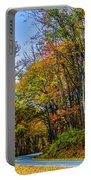 Tree Lined Road Portable Battery Charger