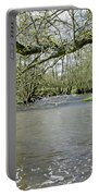 Tree-lined - Swollen River Dove At Thorpe Portable Battery Charger