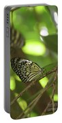 Tree Nymph Butterfly Sitting On A Tree Branch Portable Battery Charger