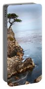 Tree Of Dreams - Lone Cypress Tree At Pebble Beach In Monterey California Portable Battery Charger