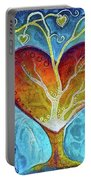 Tree Of Hearts Portable Battery Charger