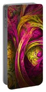 Tree Of Life In Pink And Yellow Portable Battery Charger