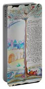 tree of life ketubah -Conservative version Portable Battery Charger