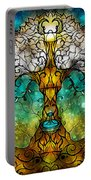 Tree Of Life Portable Battery Charger by Mandie Manzano