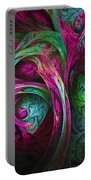Tree Of Life-pink And Blue Portable Battery Charger
