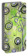 Tree Of Life Spring Abstract Tree Painting  Portable Battery Charger
