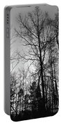 Tree Silhouette II Bw Portable Battery Charger