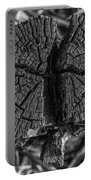 Tree Stump Black And White Portable Battery Charger