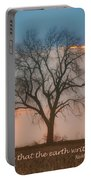 Tree - Sunset - Quotation Portable Battery Charger