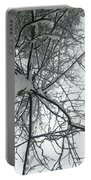 Tree Wrapped In Snow Portable Battery Charger