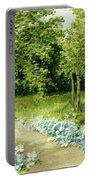 Trees And Flowers Country Scene Portable Battery Charger