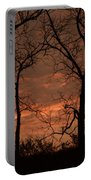 Trees And Sunrise Portable Battery Charger