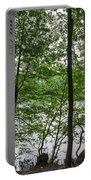 Trees At Lake Schlachtensee Portable Battery Charger