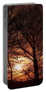 Trees At Sunset Portable Battery Charger