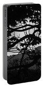 Trees Black And White - San Salvador Portable Battery Charger
