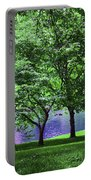 Trees By A Pond Portable Battery Charger