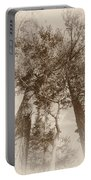 Trees Colliding Portable Battery Charger