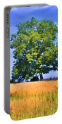 Trees In Field Portable Battery Charger