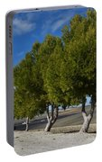 Trees In January Portable Battery Charger by Jo Ann