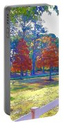 Trees In Park 1 Portable Battery Charger