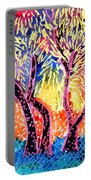Trees In Summer Portable Battery Charger