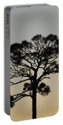 Trees In Sunset Portable Battery Charger