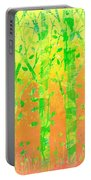 Trees In The Grass Portable Battery Charger