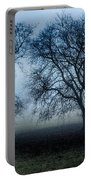 Trees In The Mist Portable Battery Charger