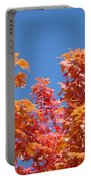 Trees Landscape Art Print Fall Tree Leaves Baslee Troutman Portable Battery Charger
