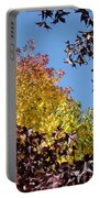 Trees Landscape Blue Sky Art Prints Fall Leaves Portable Battery Charger