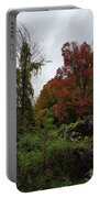 Trees Of Colorful Leaves In Autumn Mi Portable Battery Charger