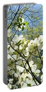 Trees Sunlit White Dogwood Art Print Botanical Baslee Troutman Portable Battery Charger