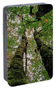 Trees Upward View Portable Battery Charger