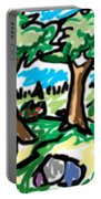 Trees W Water Ddl Portable Battery Charger