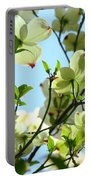 Trees White Dogwood Flowers 9 Blue Sky Landscape Art Prints Portable Battery Charger