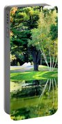 Trees With Mirror Lake 2 Portable Battery Charger
