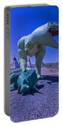 Trex And Triceratops  Portable Battery Charger