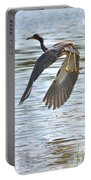 Tri Colored Heron Over The Pond Portable Battery Charger