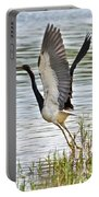 Tri Colored Heron Takeoff Portable Battery Charger