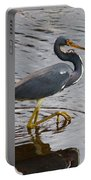 Tri-colored Heron Wading In The Marsh Portable Battery Charger
