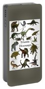 Triassic Dinosaurs Portable Battery Charger