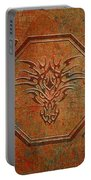 Tribal Dragon Head In Octagon With Dragon Chinese Characters Distressed Finish Portable Battery Charger