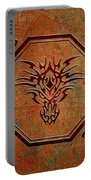 Tribal Dragon Head In Octagon With Dragon Chinese Characters Portable Battery Charger