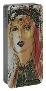 Tribal Rust Portrait Portable Battery Charger