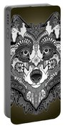 Tribal Wolf Portable Battery Charger