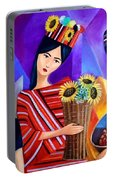 Tribal Women Portable Battery Charger