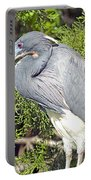 Tricolor Heron Profile Portable Battery Charger