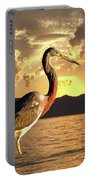 Tricolored Heron At Sunset Portable Battery Charger